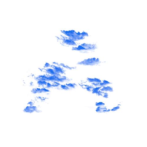 Lettre A nuage