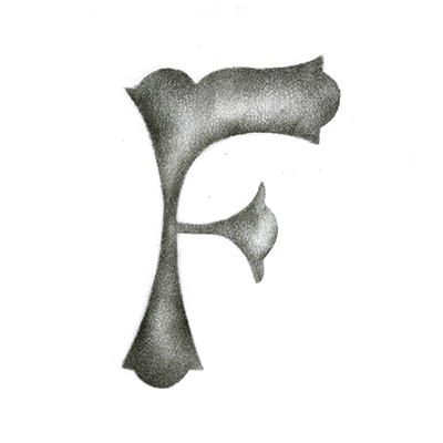 Lettre F Pochoir