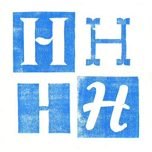 Lettre H Gravure sur bois