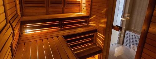 Sauna in einem der Ferienhäuser auf Fanø