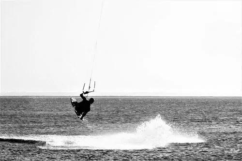 Spaß beim Kitesurfen auf Fanø