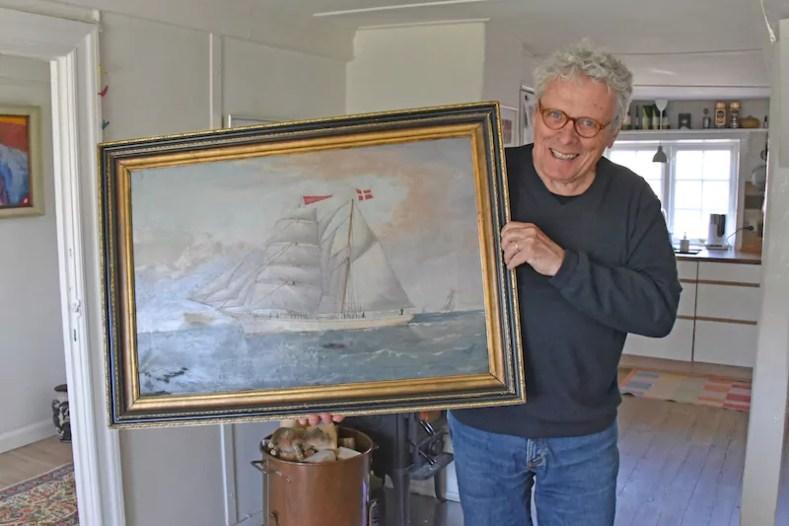 Hans Mathiasen mit Bild