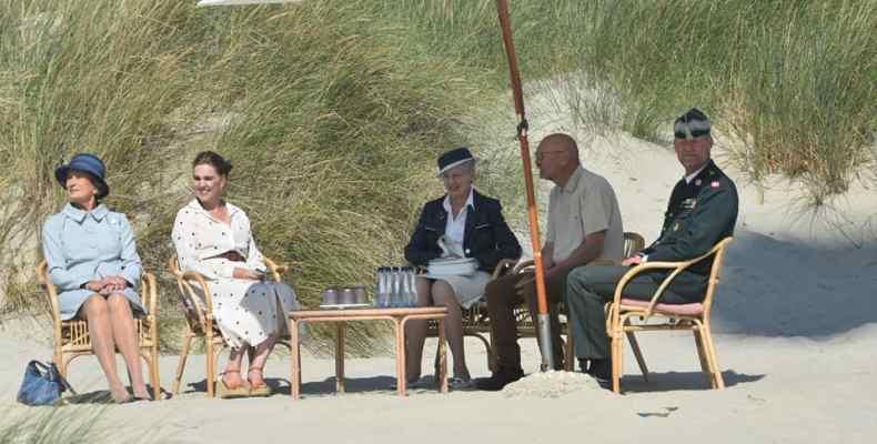 Königin Margrete am Strand von Fanø