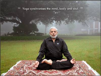 Good Evening Wallpaper With Quotes In Hindi Narendra Modi Doing Yoga Narendra Modi Photos