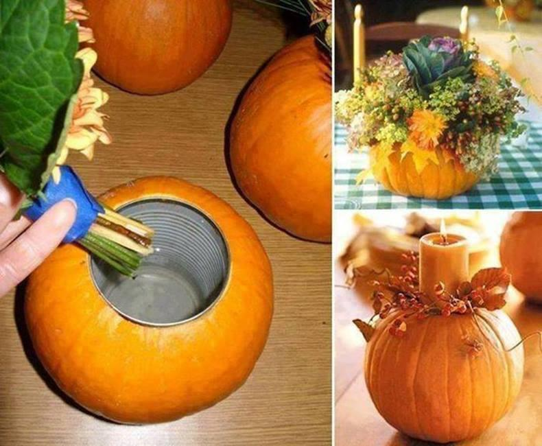 Pumpkin Vase Decoration  Halloween homemade decorations  FanPhobia  Celebrities Database