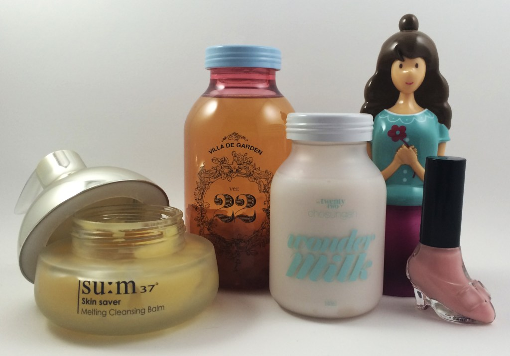 Some of my favorite kbeauty products with feminine packaging.