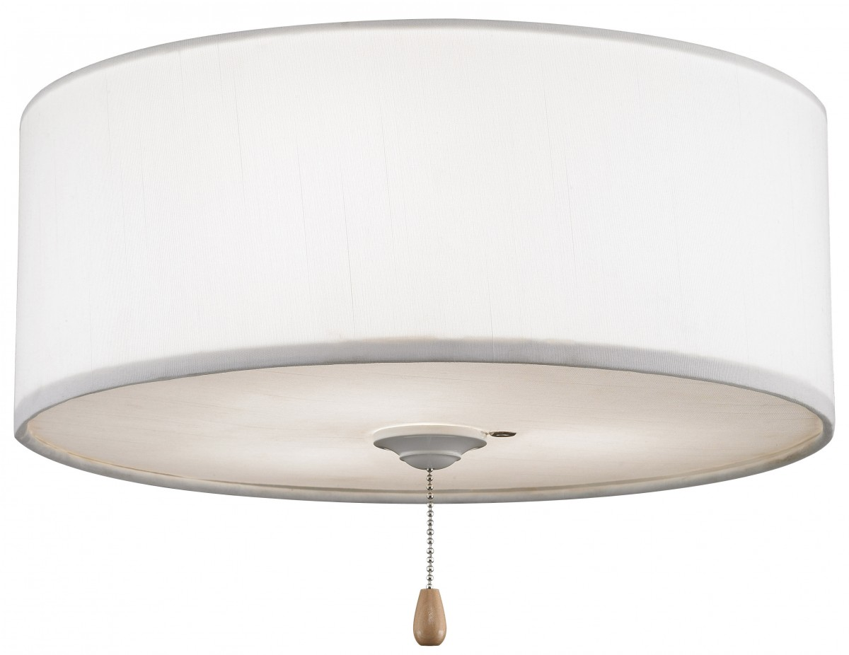 White Fabric Drum Lamp Shade > The Fan Shoppe