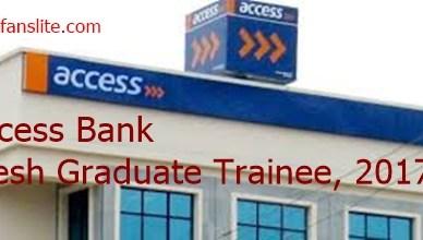 Access Bank Recruitment 2017