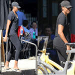 Michelle Obama Spotted leaving the gym