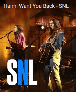 Haim's Performance Of Want You Back On SNL