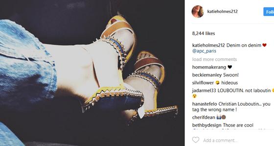 Katie Holmes Spotted Wearing Denim On Denim