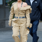 Lady Gaga In Gold Jumpsuit