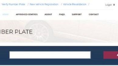 Cost of Vehicle Registration & Approved Sites for New Plate Numbers