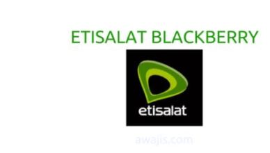 Etisalat Blackberry Data Plans - Subscription USSD Codes