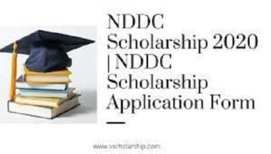 NDDC Scholarship - Application Form Portal