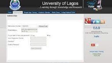 UNILAG Email Activation Procedure for Undergraduate Students