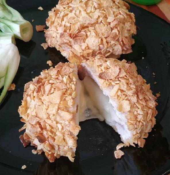 Cordon Bleu di Hamburger di pollo croccante al forno