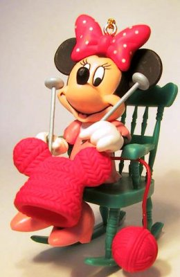 nightmare before christmas chair comfy kid chairs minnie mouse sitting in rocking knitting ornament from our collection | disney ...