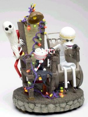 Disney Santa Jack Dr Finklestein and Scary Teddy in