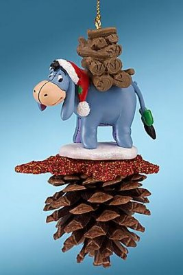 Eeyore pine cone ornament from our Christmas collection