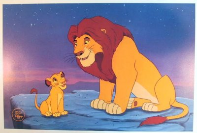 Lithograph of Simba  Mufasa from our Walt Disney Classics Collection collection  Disney