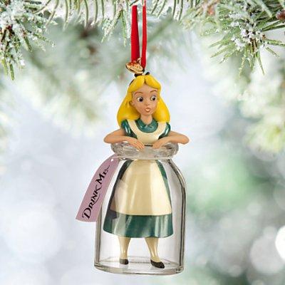 Alice in Wonderland in Drink Me bottle sketchbook