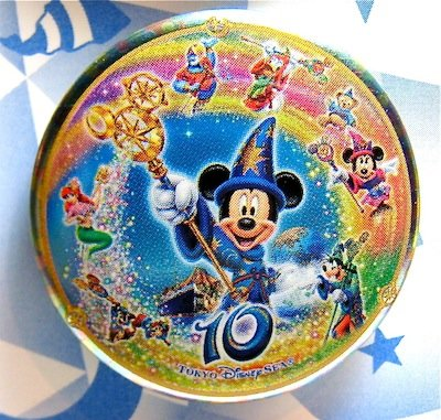 Tokyo Disney Sea 10th anniversary button from our Buttons collection  Disney collectibles and