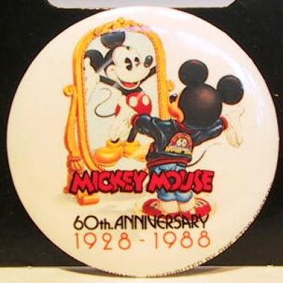 Mickey Mouse 60th Anniversary 1928 To 1988 Button From Our