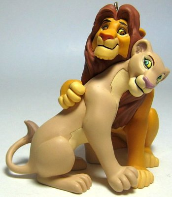 Adult Simba and Nala ornament Hallmark from our Christmas collection  Disney collectibles and