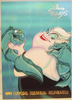 Ursula Wth Flotsam Amp Jetsam Disney Villains 2 Sided Card