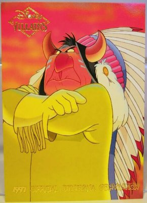 Indian Chief Disney Villains 2 Sided Card From Our Other