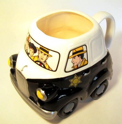 Dick Tracy police car coffee mug from our Mugs  Cups