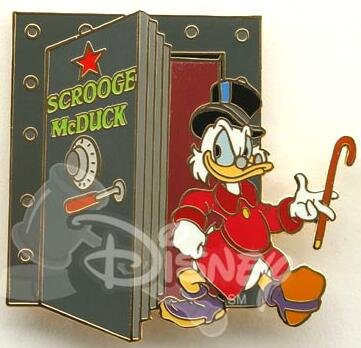Scrooge McDuck Dressing Room Door Pin From Our Pins