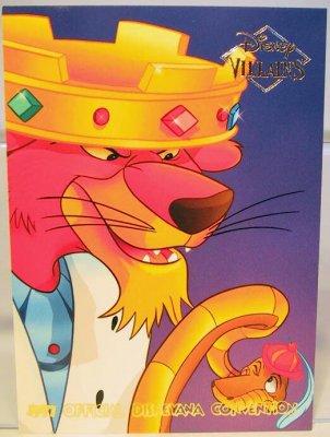 Prince John  Sir Hiss Disney Villains 2sided card from