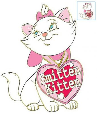 Marie Smitten Kitten St Valentines Day Series Pin From
