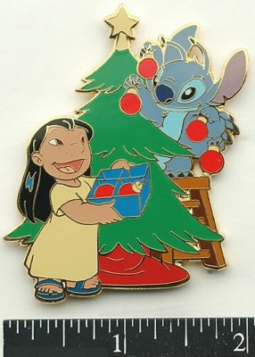 Lilo And Stitch Christmas Tree Trimming Pin From Our Pins