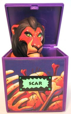Scar popup finger puppet fast food toy from our Fast Food Toys McDonalds Burger King