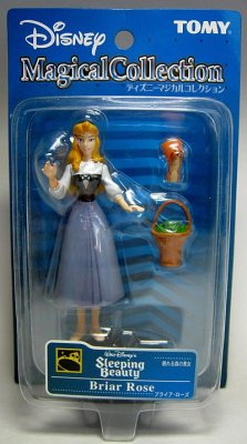 Sleeping Beauty as Briar Rose with squirrel  basket PVC