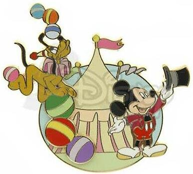 Mickey Mouse Amp Pluto Circus Big Top Mechanical Pin From