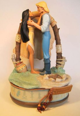 Pocahontas and John Smith musical box from our Other