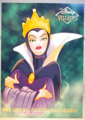Evil Queen Disney Villains 2 Sided Card From Our Other