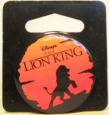Lion King logo button from our Buttons collection  Disney collectibles and memorabilia