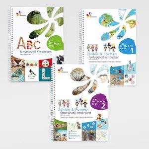 ABC, Zahlen & formen fantasievoll entdecken 1+2 - Lernmaterial für Kinder