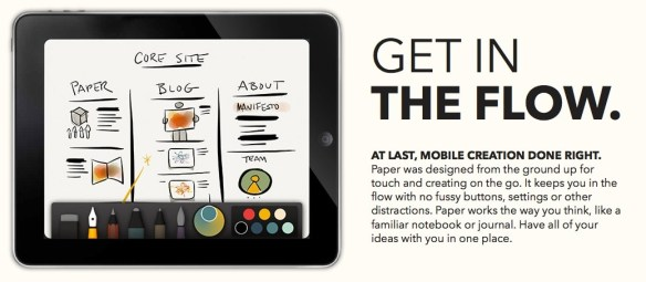 Fifty Three's remarkable Paper app for iPad.
