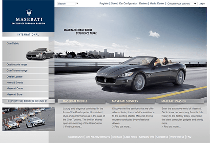 The Maserati Web Site