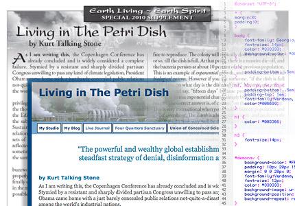 Petri Dish Article Graphic - Print, Web, CSS code