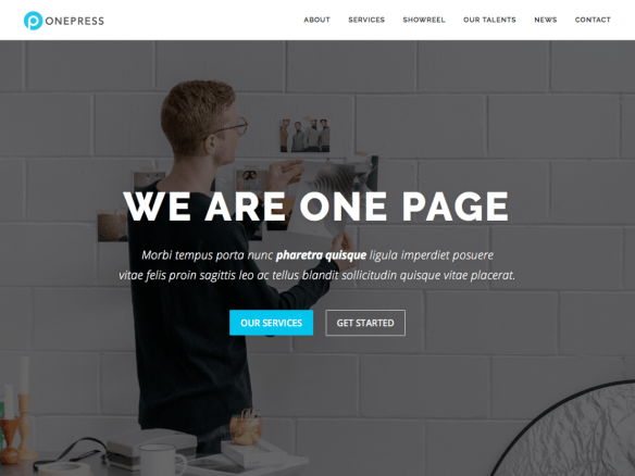 OnePress - developed by FameThemes. Perfectly lovely, but…