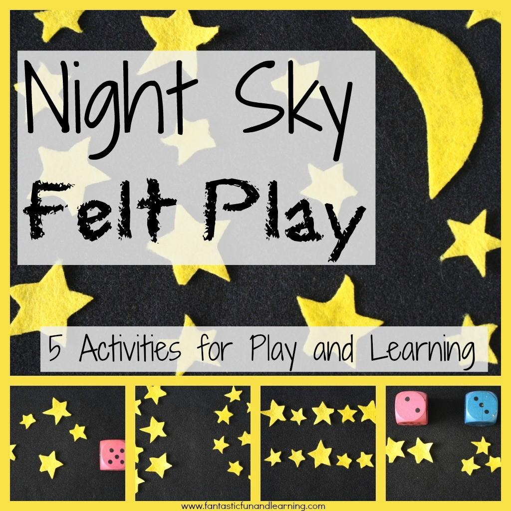 Night Sky Felt Play And Math Games