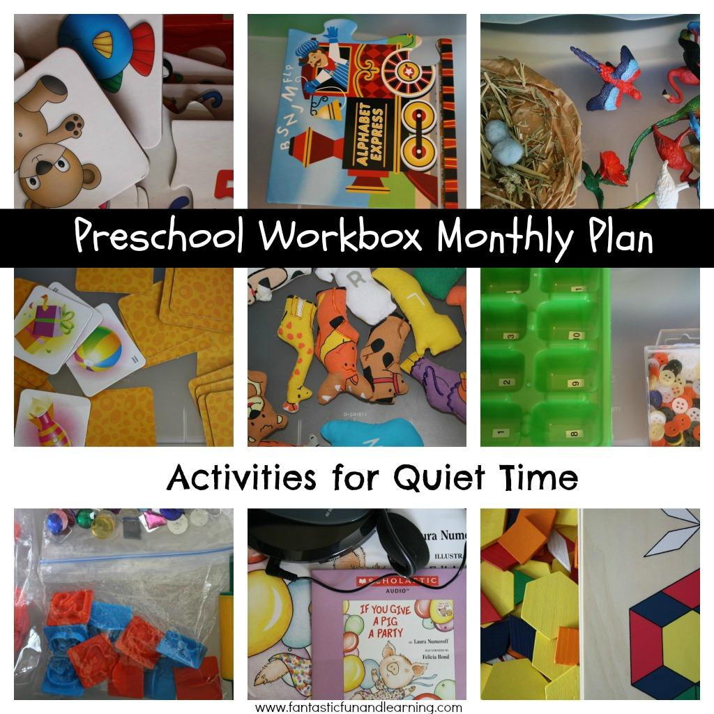 Preschool Workbox Monthly Plan Amp Activities For Quiet Time January Activities