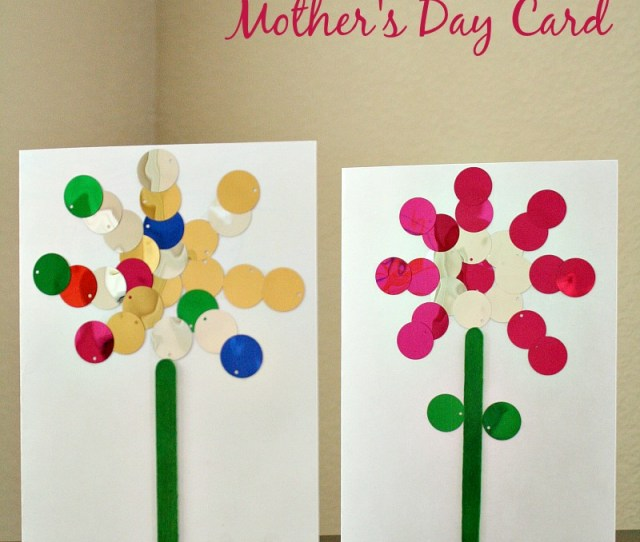Easy Kid Made Mothers Day Card
